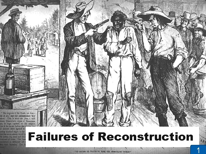 Failures of Reconstruction 1