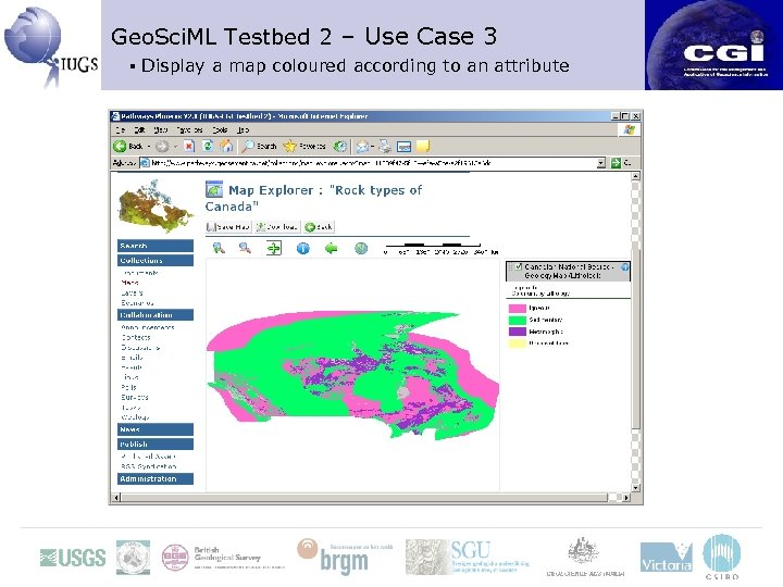 Geo. Sci. ML Testbed 2 – Use Case 3 ▪ Display a map coloured