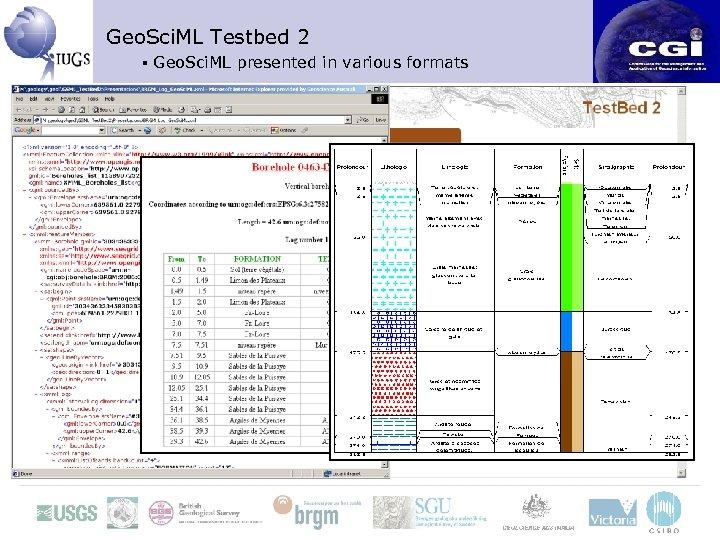 Geo. Sci. ML Testbed 2 ▪ Geo. Sci. ML presented in various formats