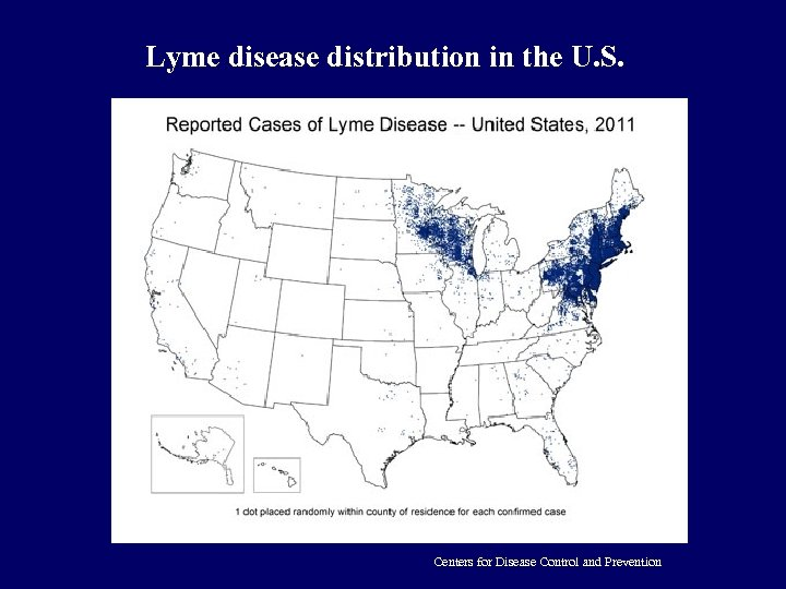 Lyme disease distribution in the U. S. Centers for Disease Control and Prevention