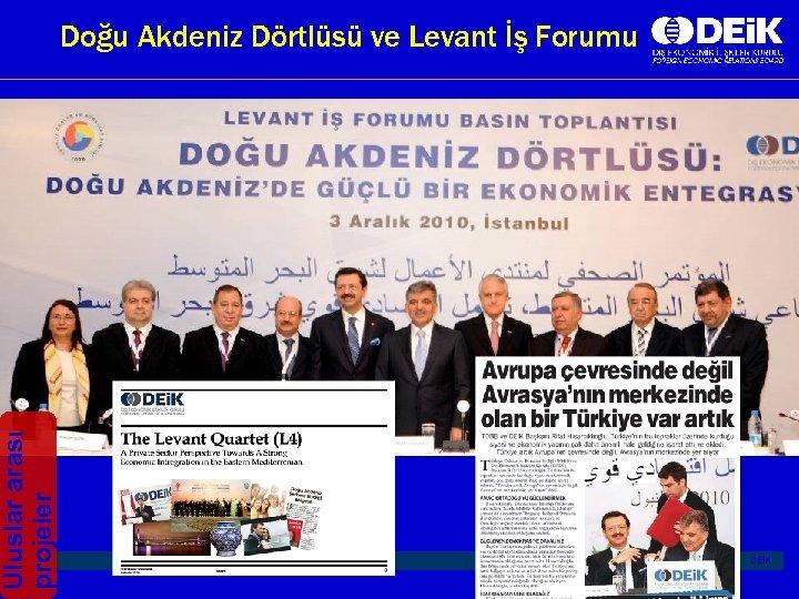 Uluslar arası projeler I Doğu Akdeniz Dörtlüsü ve Levant İş Forumu | DEİK