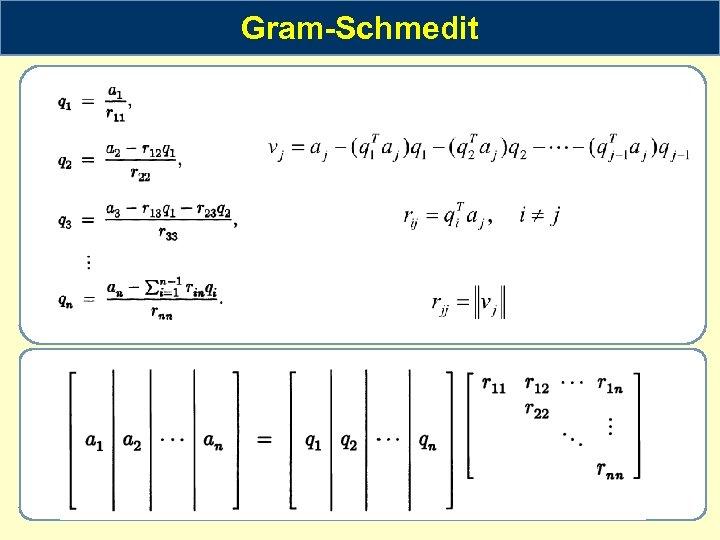 Gram-Schmedit