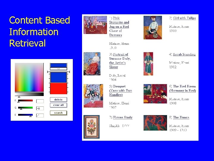 Content Based Information Retrieval
