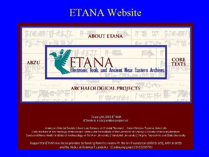 ETANA Website