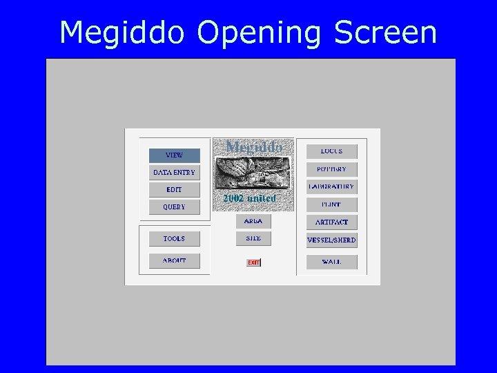 Megiddo Opening Screen