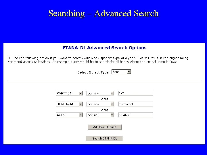Searching – Advanced Search