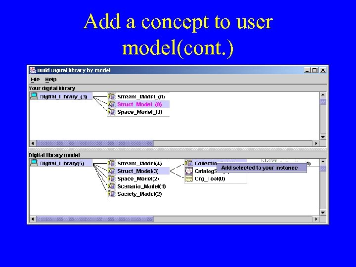 Add a concept to user model(cont. )