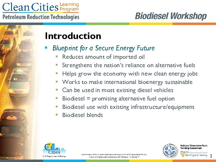 Introduction § Blueprint for a Secure Energy Future § § § § Reduces amount