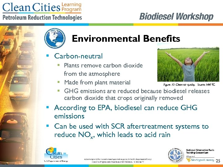 Environmental Benefits § Carbon-neutral § Plants remove carbon dioxide from the atmosphere § Made