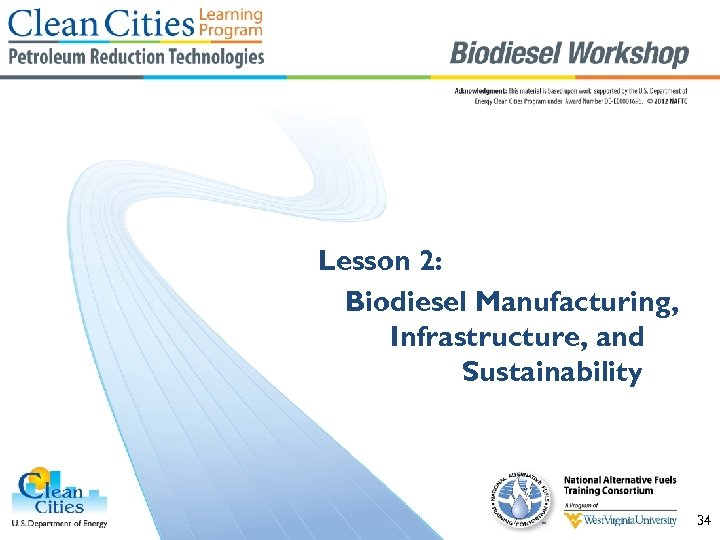 Lesson 2: Biodiesel Manufacturing, Infrastructure, and Sustainability 34