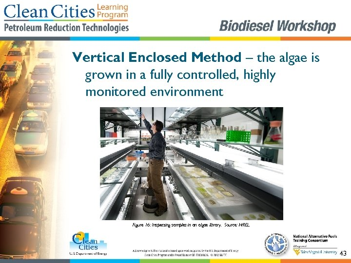 Vertical Enclosed Method – the algae is grown in a fully controlled, highly monitored