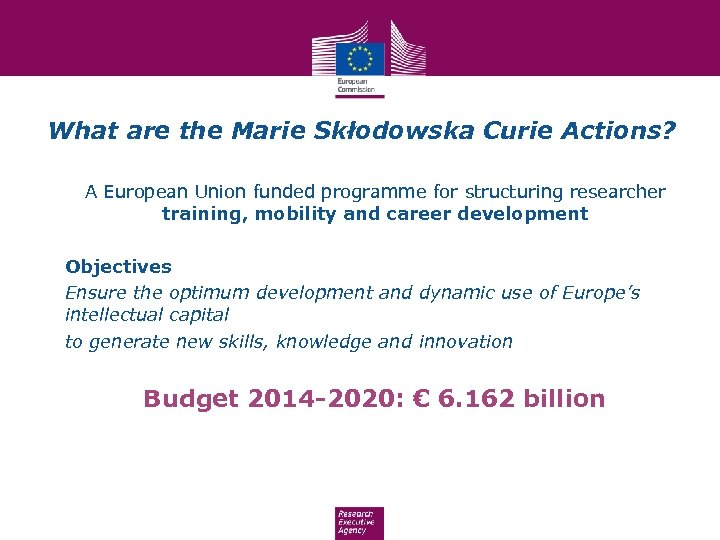 What are the Marie Skłodowska Curie Actions? A European Union funded programme for structuring