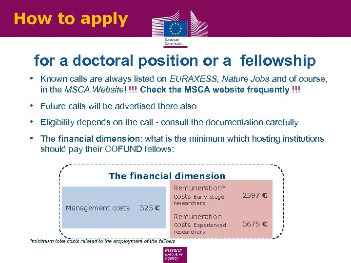How to apply for a doctoral position or a fellowship • Known calls are