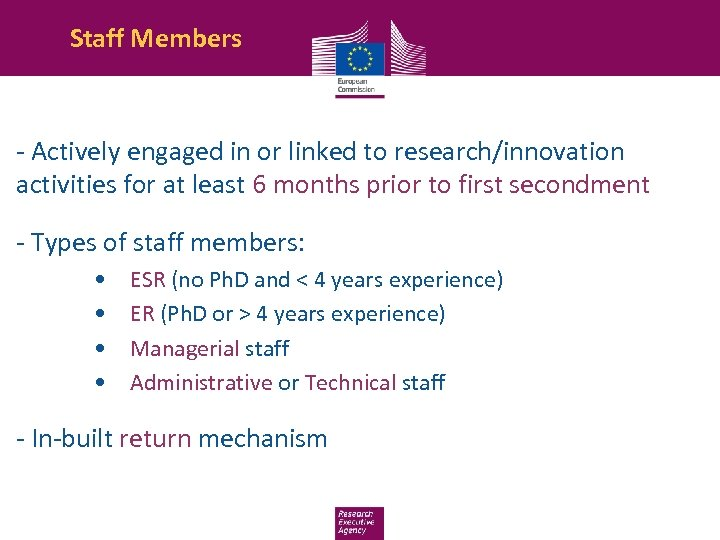 Staff Members - Actively engaged in or linked to research/innovation activities for at least