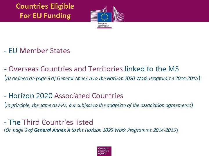 Countries Eligible For EU Funding - EU Member States - Overseas Countries and Territories