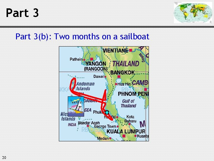 Part 3(b): Two months on a sailboat 20