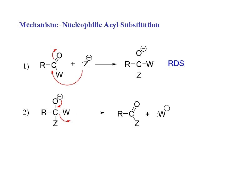 Mechanism: Nucleophilic Acyl Substitution 1) 2)