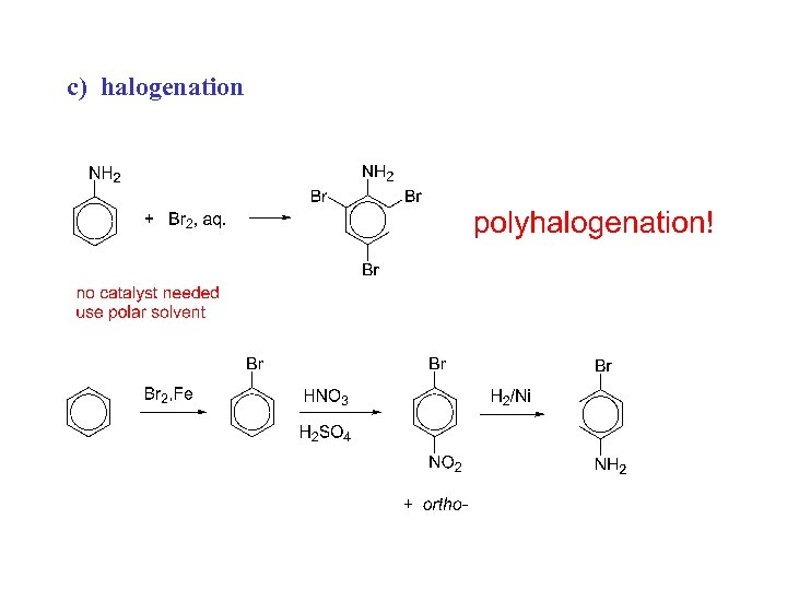 c) halogenation