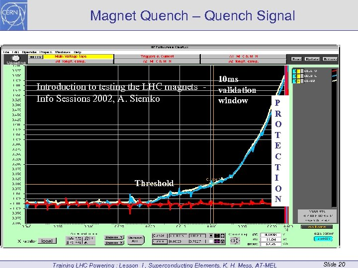 Magnet Quench – Quench Signal Introduction to testing the LHC magnets Info Sessions 2002,