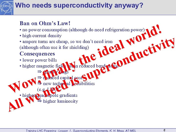 Who needs superconductivity anyway? Ban on Ohm's Law! d! rl y o l w