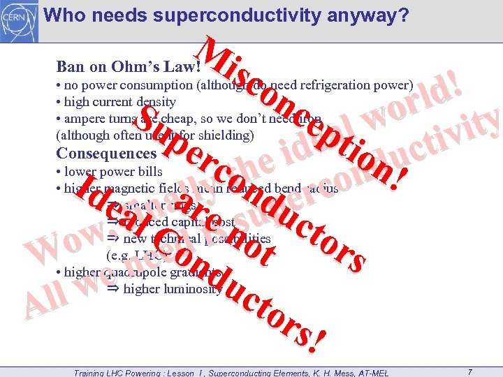 Who needs superconductivity anyway? M Ban on Ohm's Law! i sc on d! rl