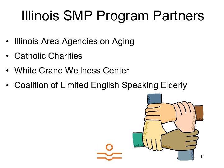 Illinois SMP Program Partners • Illinois Area Agencies on Aging • Catholic Charities •