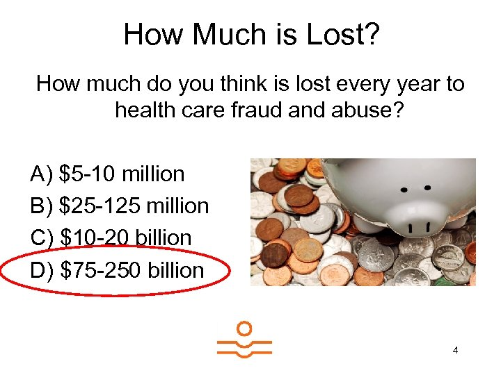 How Much is Lost? How much do you think is lost every year to