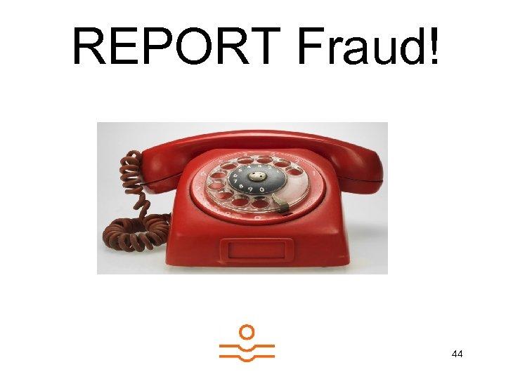 REPORT Fraud! 44