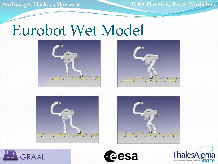 Anchorage, Alaska, 3 May 2010 ICRA Planetary Rover Workshop Eurobot Wet Model