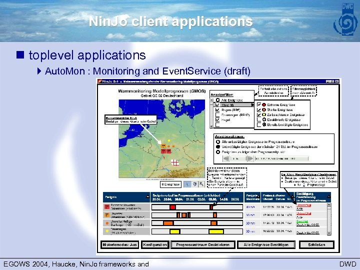 Nin. Jo client applications n toplevel applications 4 Auto. Mon : Monitoring and Event.