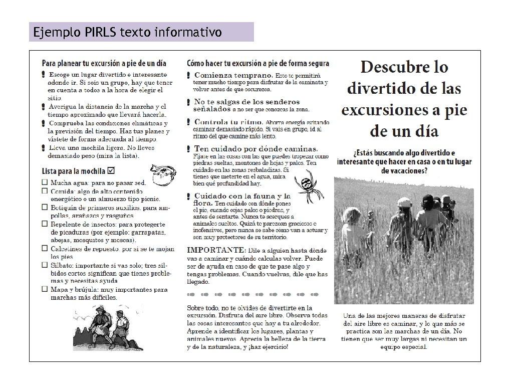 Ejemplo PIRLS texto informativo