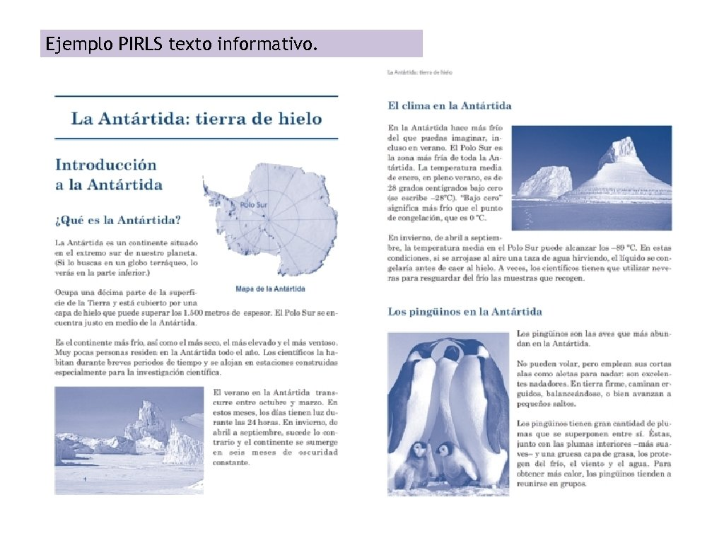 Ejemplo PIRLS texto informativo.