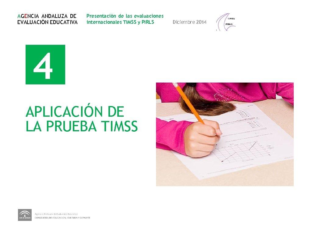 AGENCIA ANDALUZA DE EVALUACIÓN EDUCATIVA Presentación de las evaluaciones internacionales TIMSS y PIRLS 4