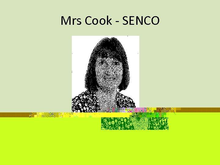 Mrs Cook - SENCO