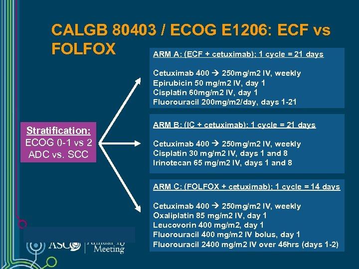 CALGB 80403 / ECOG E 1206: ECF vs FOLFOX ARM A: (ECF + cetuximab);