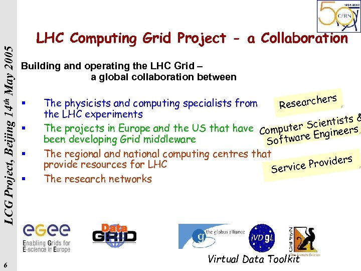 LCG Project, Beijing 14 th May 2005 6 LHC Computing Grid Project - a