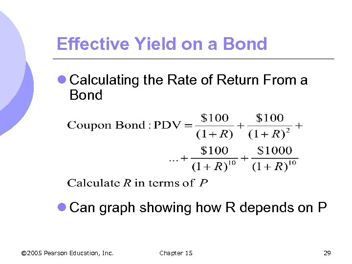 Effective Yield on a Bond l Calculating the Rate of Return From a Bond