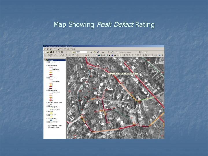 Map Showing Peak Defect Rating