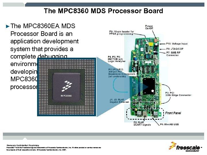 The MPC 8360 MDS Processor Board ►The MPC 8360 EA MDS Processor Board is