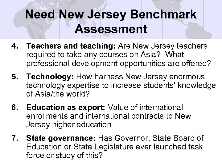 Need New Jersey Benchmark Assessment 4. Teachers and teaching: Are New Jersey teachers required
