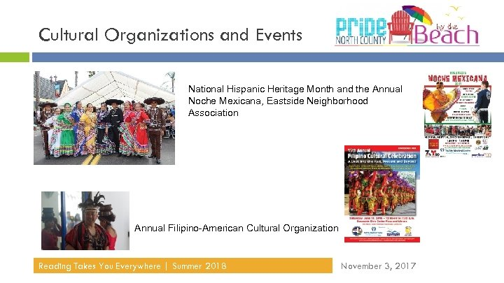 Cultural Organizations and Events National Hispanic Heritage Month and the Annual Noche Mexicana, Eastside