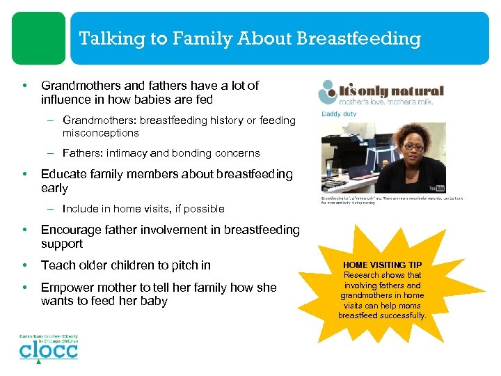 Talking to Family About Breastfeeding • Grandmothers and fathers have a lot of influence