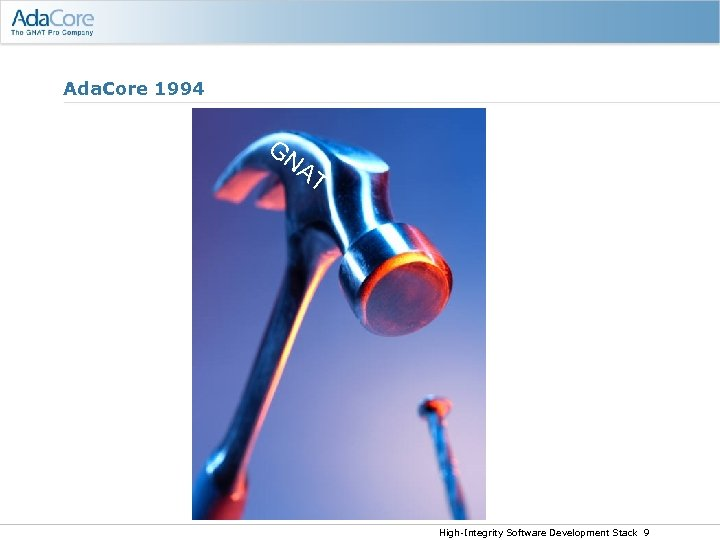 Ada. Core 1994 GN AT High-Integrity Software Development Stack 9