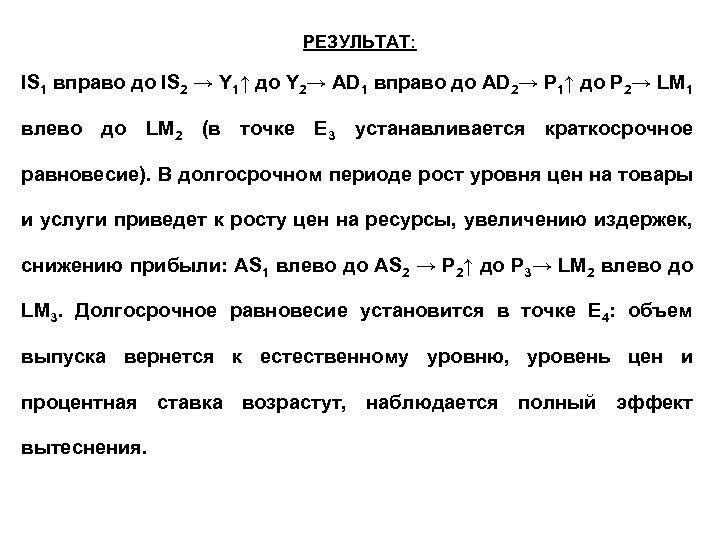РЕЗУЛЬТАТ: IS 1 вправо до IS 2 → Y 1↑ до Y 2→ AD
