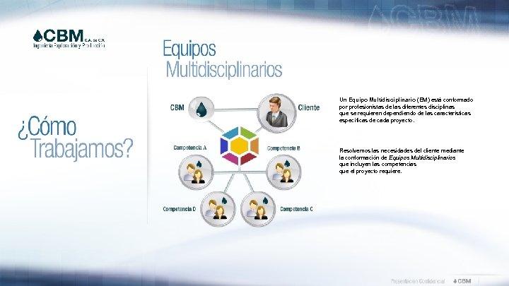 Un Equipo Multidisciplinario (EM) está conformado por profesionistas de las diferentes disciplinas que se