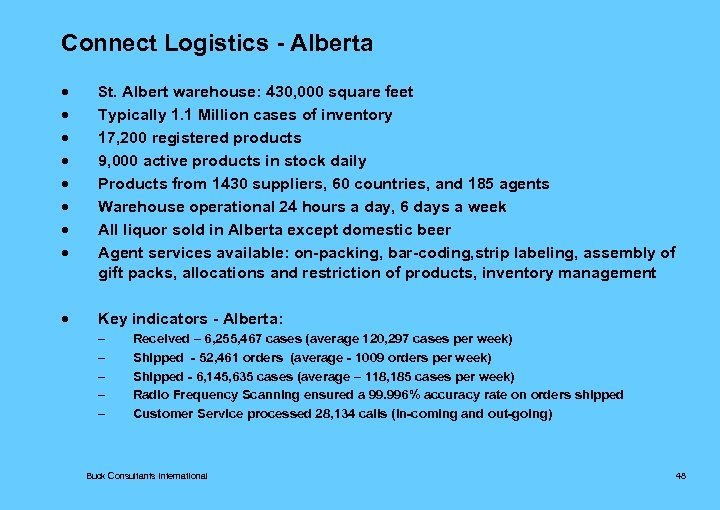 Connect Logistics - Alberta · St. Albert warehouse: 430, 000 square feet · ·