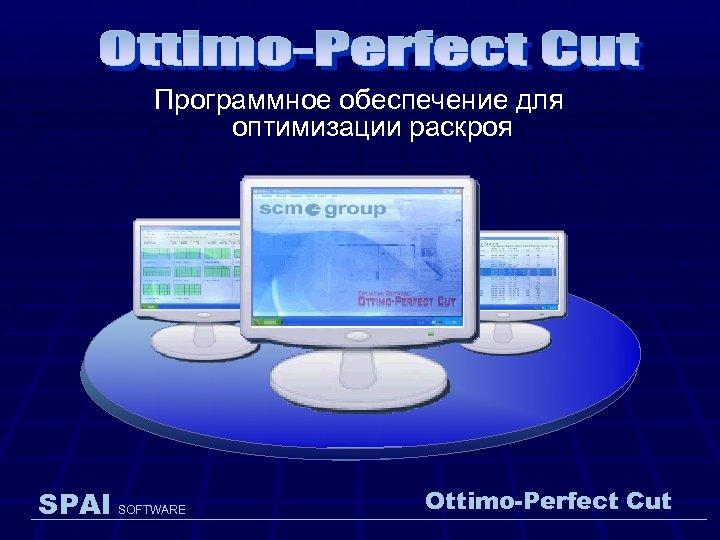 Программное обеспечение для оптимизации раскроя SPAI SOFTWARE Ottimo-Perfect Cut
