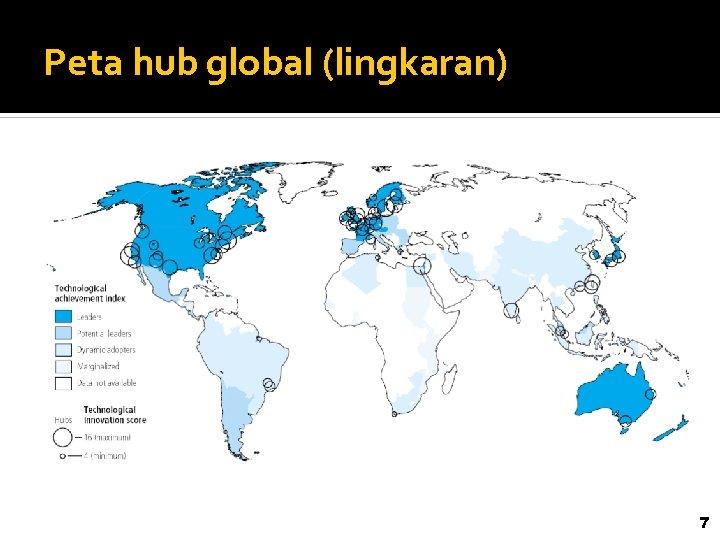 Peta hub global (lingkaran) 7