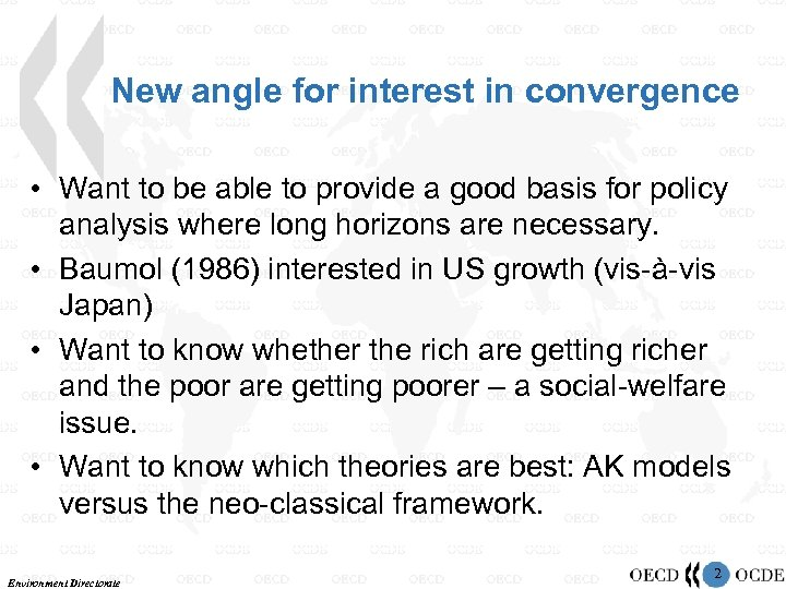 New angle for interest in convergence • Want to be able to provide a