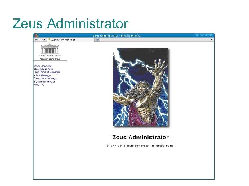 Zeus Administrator